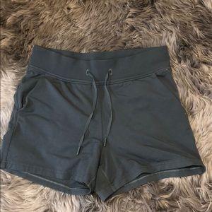 Lululemon, size 8 soft olive green shorts